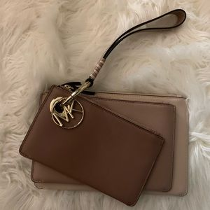 Michael Kors Bags - Michael Kors Tricolor pouches in leather
